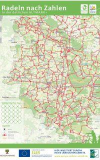 Radwanderkarte östliche Altmark- Radeln nach Zahlen